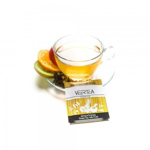 VEERTEA Sensational Green Tea & Fruits 100 saszetek biały kartonik